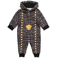 Young Versace Baby Boys Cotton Hooded Romper