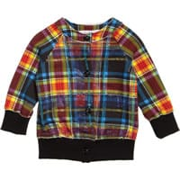 Young Versace Baby Girls Cotton Tartan Jacket