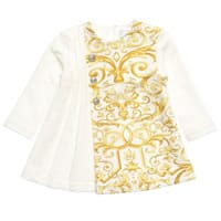 Young Versace Ivory Baroque Dress
