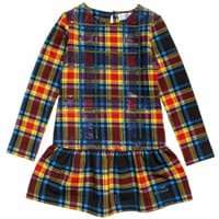 Young Versace Tartan Studded Cotton Dress