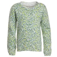 Zadig & Voltaire Girls Green Leopard Print Knitted Cotton Cardigan