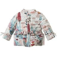 Baby Girls Down Padded Pink Floral Jacket