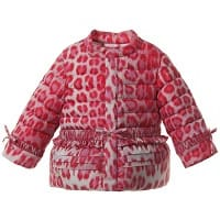 Baby Girls Down Padded Pink Leopard Jacket