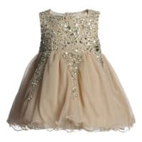 Baby Girls Gold Tulle Dress