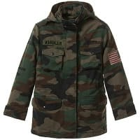 Green Camouflage Military Style Jacket