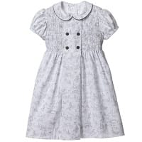 Grey Toile De Jouy Dress
