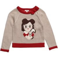 Red & Beige Knitted Sweater