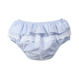 Baby Girls Blue Striped Cotton Bloomers3.fw