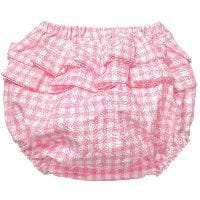 Baby Girls Frilly Pink Gingham Shorts