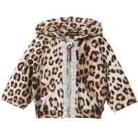 Baby Girls Leopard Hooded Zip-up Top