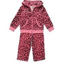 Baby Girls Pink Leopard Print Tracksuit