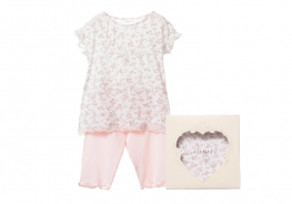 Floral Modal Pyjama with Pink Cropped Trousers5.fw