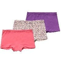 Girls Pink & Purple Jersey Knickers (Pack of 3)