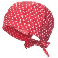 Girls Red Spotty Sun Protective Hat
