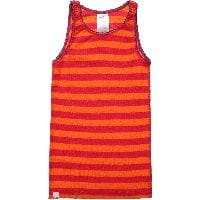 Orange & Pink Stripe Merino Wool Thermal Vest