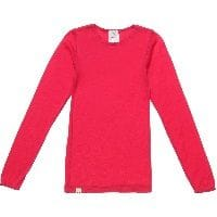 Pink Merino Wool Long Sleeved Thermal Vest