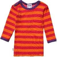 Unisex Orange Striped Merino Wool Top