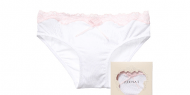 White Modal Knickers with Pink Lace1.fw