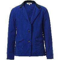 Boys Electric Blue Printed Jacket