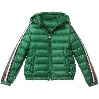 Boys Green Down 'Chamane' Puffer Jacket