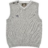 Boys Grey Cotton Knitted Slipover