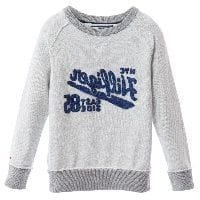 Boys Grey Cotton Knitted Sweater
