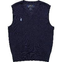 Boys Navy Blue Knitted Cotton Slipover