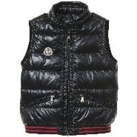 Boys Navy Blue 'Yael' Down Padded Gilet