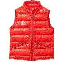 Boys Orange 'Gui' Down Padded Gilet