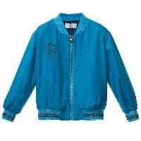 Boys Turquoise Blue Satin Bomber Jacket