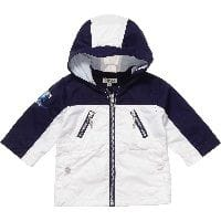 Boys White & NAvy Blue Wave Logo Jacket