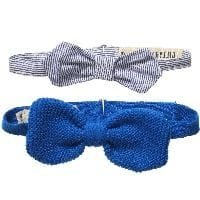 Pack Of Two Boxed Blue & Striped Bowties