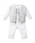 Baby Boys Grey Cotton Jersey Outfit (3 Piece).fw