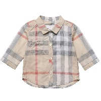 Baby Boys Pale Nova Check Cotton Shirt