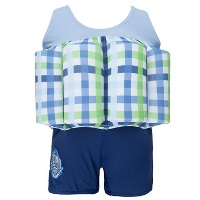 Blue Check 'Learn To Swim' Float Suit