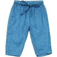 Blue 'Fiji' Linen Trousers3