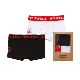 Boys Black & Ivory Boxer Shorts (Pack of 2).fw