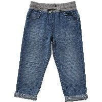 Boys Blue Soft Denim-Look Trousers