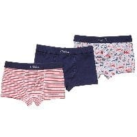 Boys Cotton Boxer Shorts (Pack of 3)