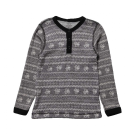 Boys Grey Tractors Thermal Wool Top.fw