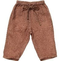 Brown 'Fiji' Linen Trousers2