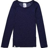 Navy Blue Merino Wool Long Sleeved Thermal Top