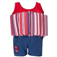 Red Striped 'Learn To Swim' Float Suit