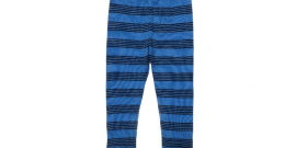 Unisex Blue Striped Merino Wool Leggings.fw