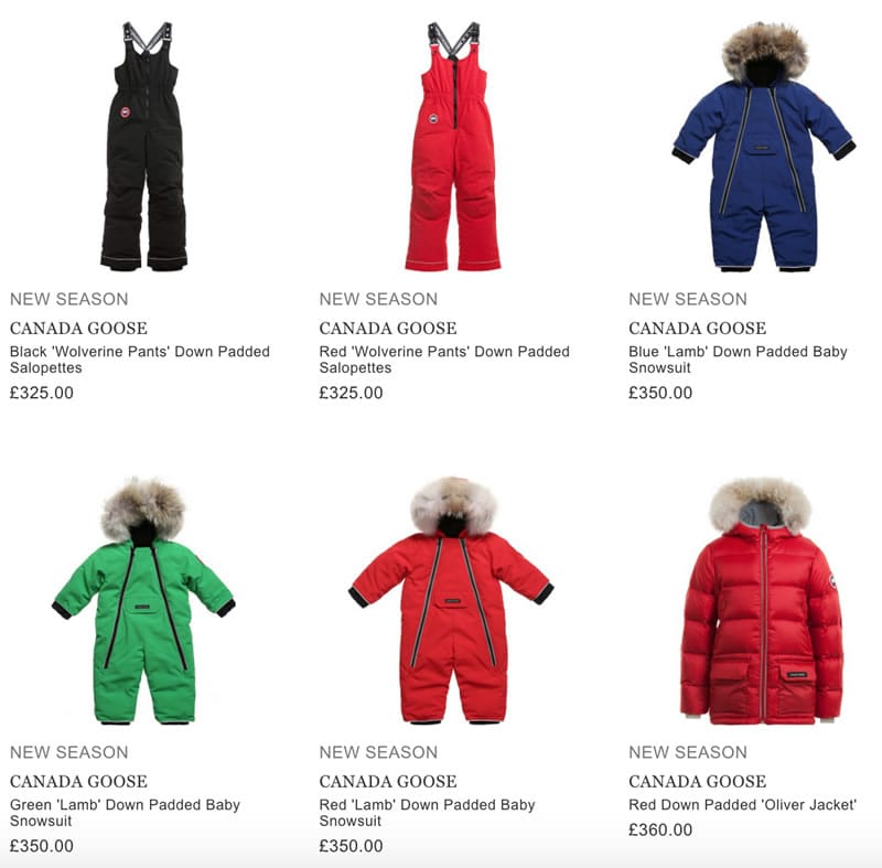 Canada Goose kids Clothing