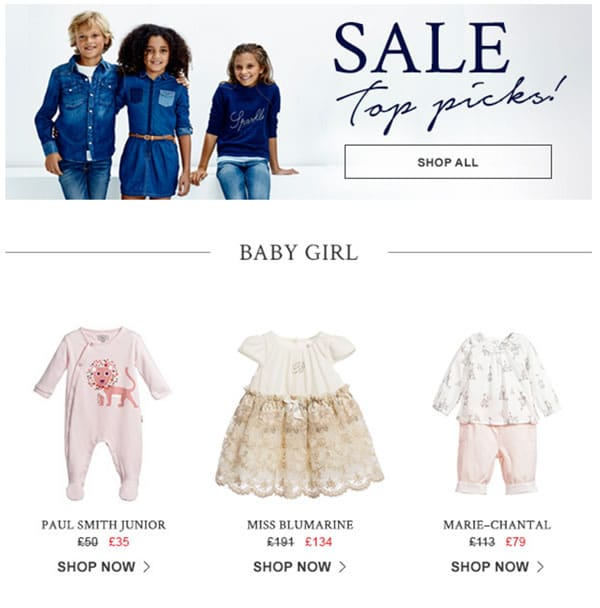 Baby Girls Designers Clothes on sale