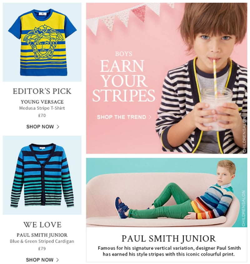 Boys Stripes Outlook Kids Baby Luxury Clothes